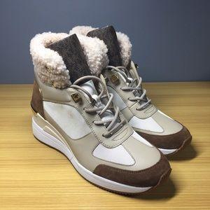 Michael Kors Real Lamb Fur Wedge Boot, Women 10 M